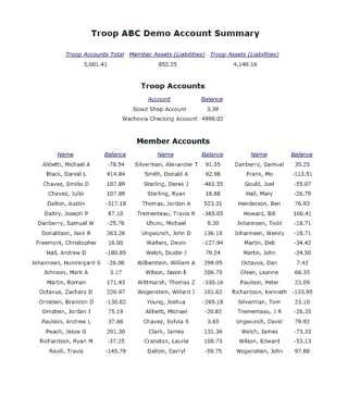 Report Account Balances